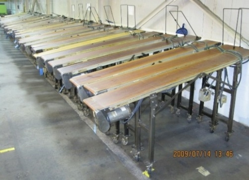 12″ x 96″ Dorner Rubber Belt Conveyor Units Item # 1298