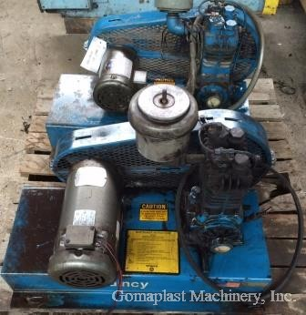 Quincy M-206 Air Compressors (2), Item # 1686